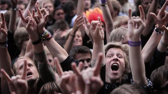 Stemning under In Flames - Oslo Live Festival 2010, Foto: Rashid Akrim, NRK P3